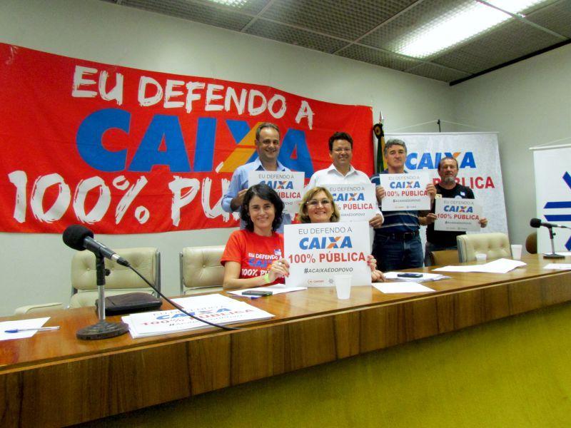 Manifestação Caixa 100% pública - Câmara dos Deputados