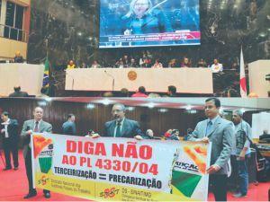 Audiência pública  contra a terceirização na ALMG