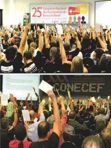 Congressos Nacionais do BB e da Caixa