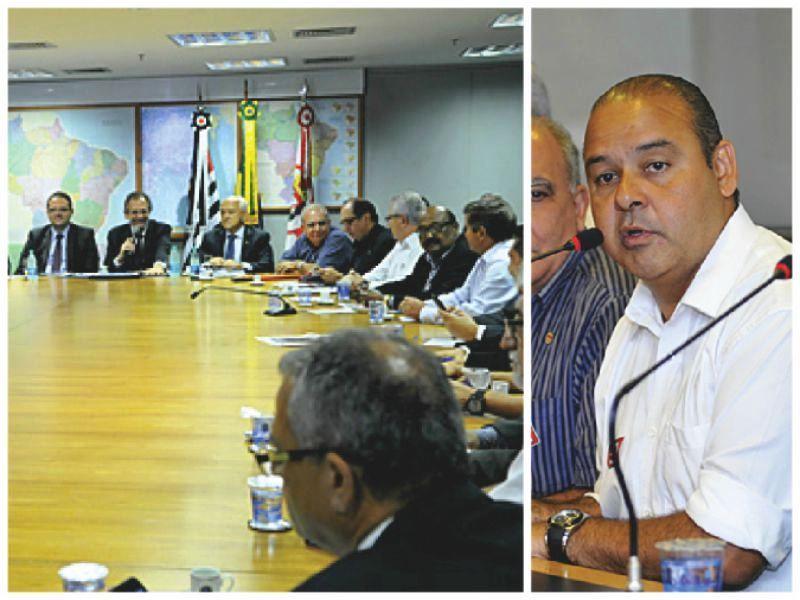 Reunião entre as Centrais e representantes do Governo